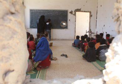 مبادرة لتنظيف مدرسة معاوية بن سفيان في الرقة