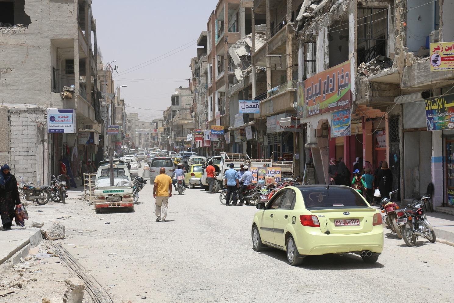 تحضيرات العيد في الرقة: حملة تنظيف ومنع للدراجات النارية