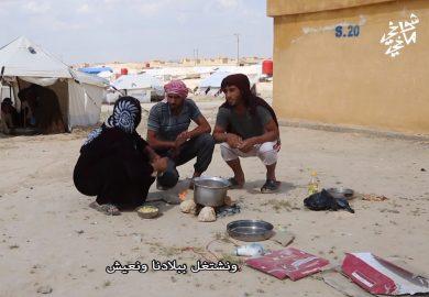 حال الطبخ في المخيمات خلال رمضان
