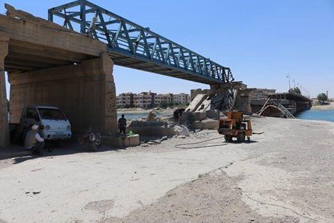 جسر الرقة القديم إلى الخدمة قريبًا