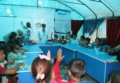 نشاطات منظمة شمس في مخيم عين عيسى