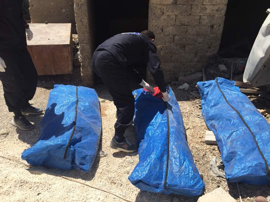 75 جثة في حي البدو