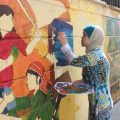 أخبار الفرات – مجموعة فناني غرافيتي يجملون جدران الرقة