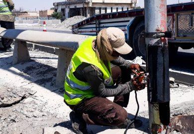 أعمال ومشاريع دائرة الإنارة والشوارع المنارة حاليا مع مراسلنا عبد الرزاق