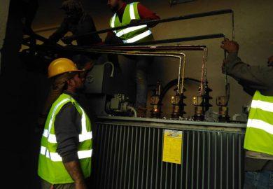 وضع محطة الكهرباء مع مراسلنا عبد في الرقة
