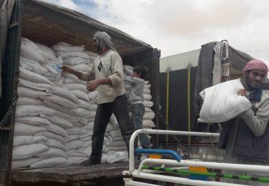 توزيع المعونات والإجراءات المتخذة من قبل مكتب المنظمات مع مراسلنا عبد في الرقة