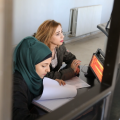 حديث من إلهام عبدي – مكتب المرأة في لجنة التربية والتعليم في الرقة – عن عمل مكتب المرأة