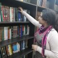 المكتبة في المركز الثقافي في الطبقة