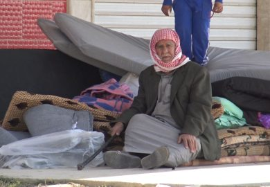 عمر عبود العلي، مضيف للنازحين وكيفية استقبال اهالي المنطقة للنازحين