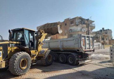 أعمال مكتب الخدمات الفنية في بلدية الشعب في الرقة