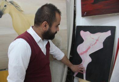 أحمد عبد المجيد العليص، رسام عائد من ألمانيا للرقة