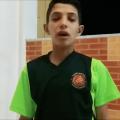 تحدي احد لاعبي أشبال نادي الفرات بالرقة بالبيت