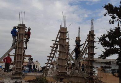 أعمال الخدمات الفنية لبلدية الشعب في الحمرات