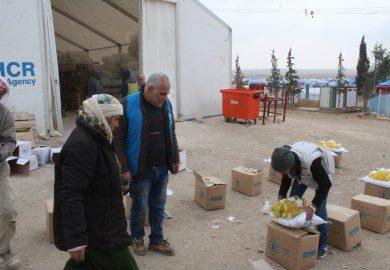 آلية توزيع قسائم المساعدات من مجلس هيلين جودي على أهالي الرقة مع عبد الواحد الياسر